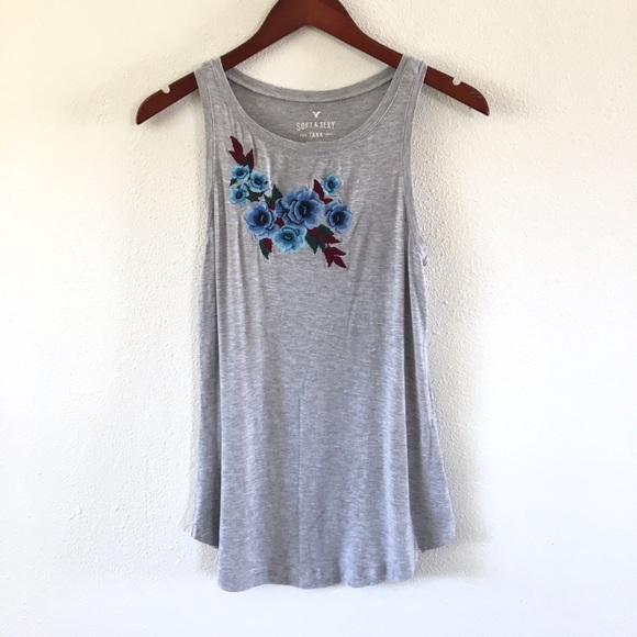 American Eagle Outfitters Tops - AE Soft & Sexy Loose Fit Floral Tank